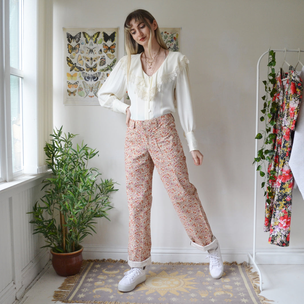Floral trousers 30W