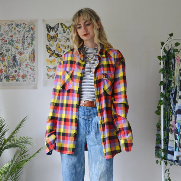 Colourful flannel shirt