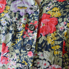 Load image into Gallery viewer, Puffy sleeve floral dress