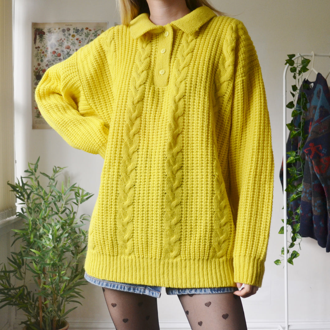 Banana cable knit jumper