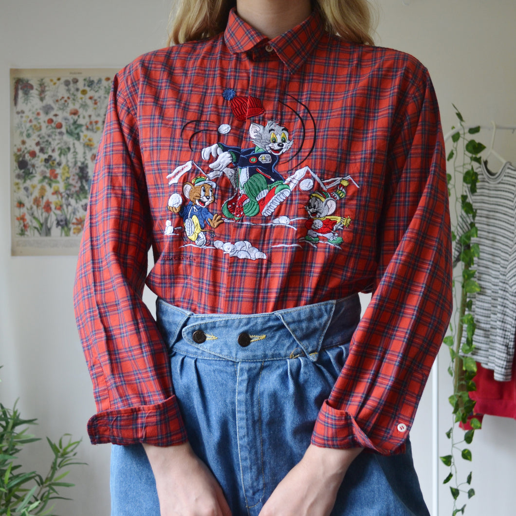 Tom & Jerry plaid shirt