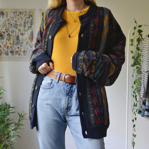Textured knitted jacket