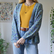 Load image into Gallery viewer, Blue fleck cardigan