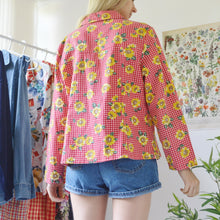 Load image into Gallery viewer, Sunflower gingham shirt