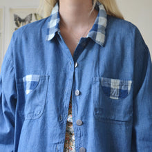 Load image into Gallery viewer, Gingham denim shirt
