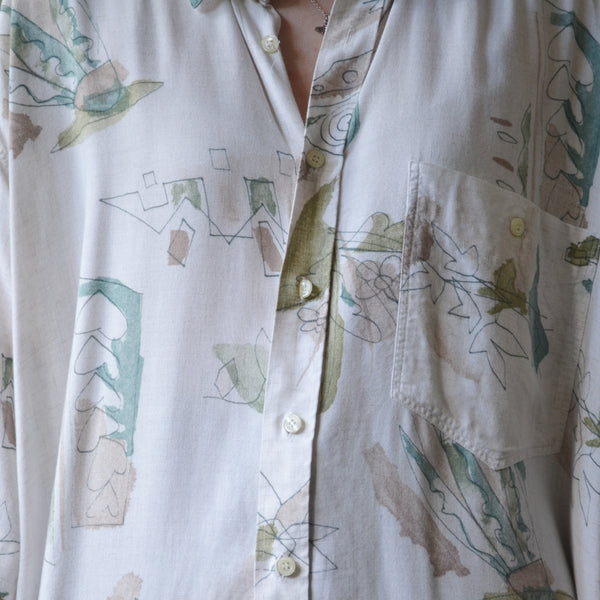 Abstract leaf shirt