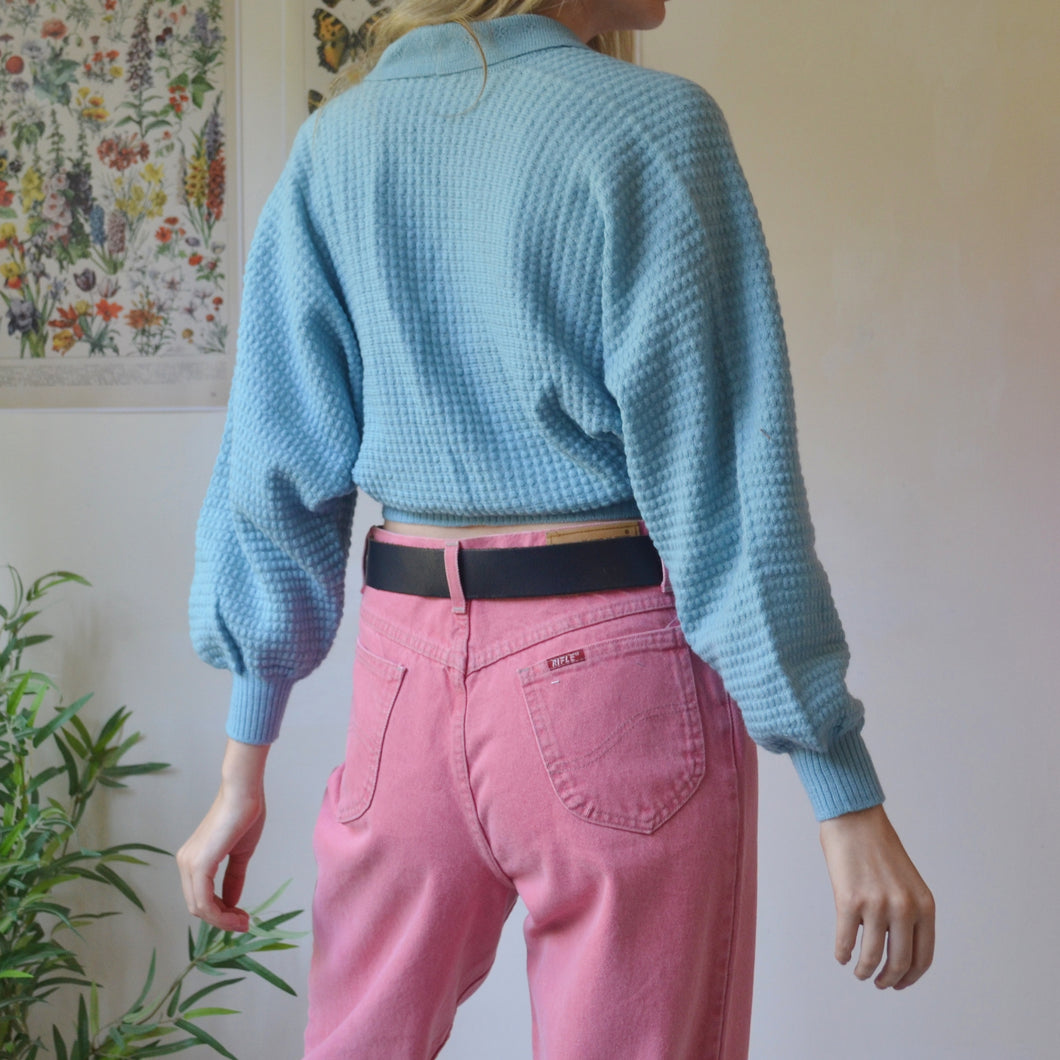 Pink & green sweater