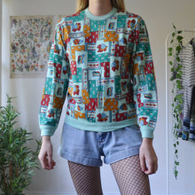 Load image into Gallery viewer, Turtle patchwork sweatshirt
