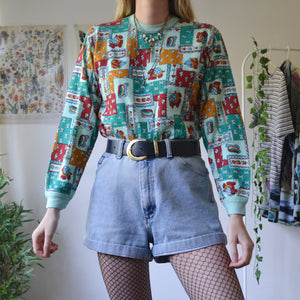 Turtle patchwork sweatshirt