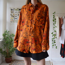 Load image into Gallery viewer, Orange floral shirt
