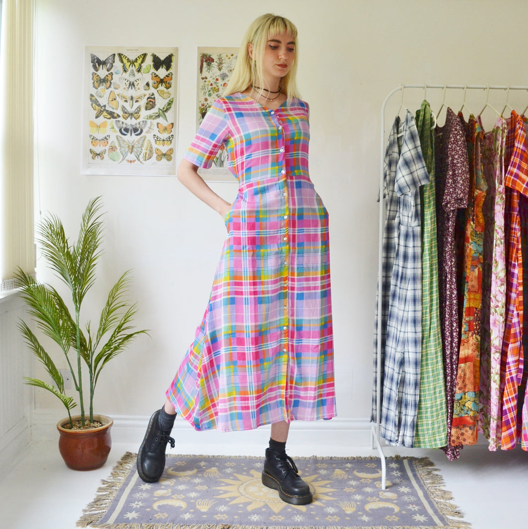 Betty check dress