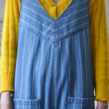 Load image into Gallery viewer, Stripe dungaree jumpsuit