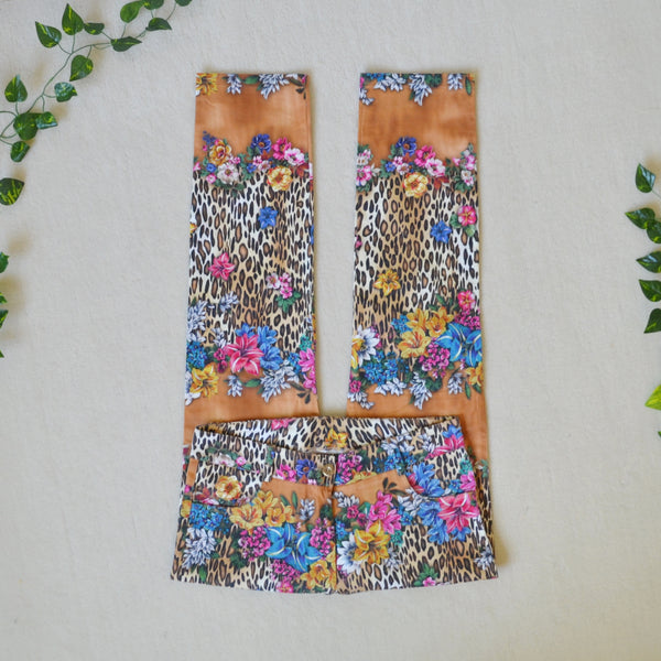 Tropical leopard trousers