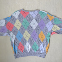Load image into Gallery viewer, Pastel argyle jumper
