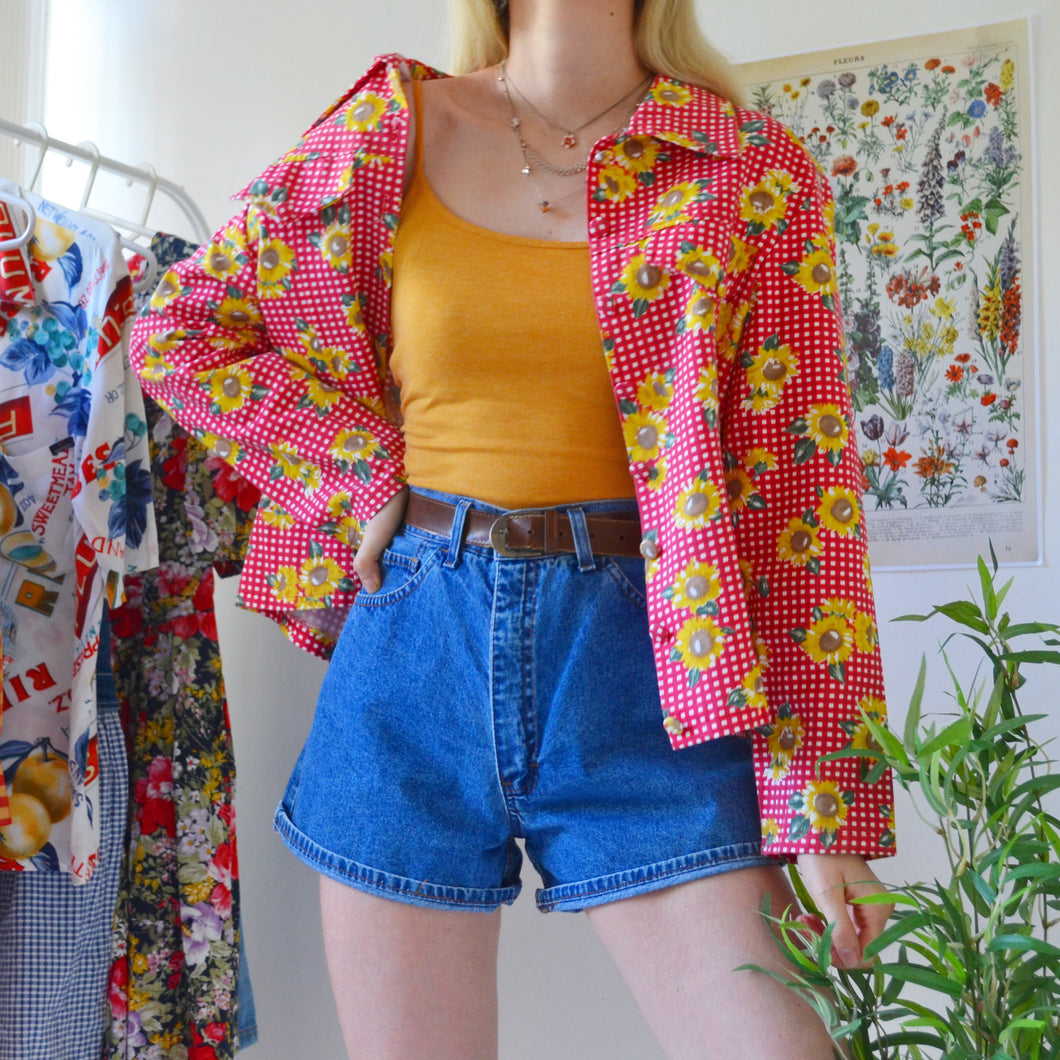 Sunflower gingham shirt