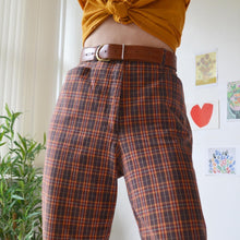 Load image into Gallery viewer, Cinnamon check jeans 34W
