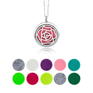 Sweet Vally Diffuser Necklace Rose Essential Oil and Perfume