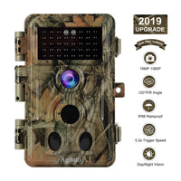 Agitato 16MP 1080P Game Trail Deer Hunting Camera with Night Vision 120° 2-PIR Sensor 0.2S Fast Trigger Waterproof & Password Protected Photo & Video Model