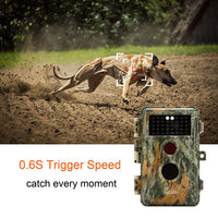 2-Pack Game Trail Hunting Cameras 16MP 1080P Video Night Vision No Flash Infrared 0.6S Trigger Speed Photo & Video Model Multi-shot Mode Time Lapse