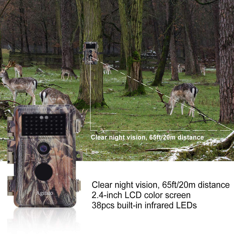2-Pack No Glow 16MP 1080P Game & Trail Hunting Cameras Motion Activated 0.6S Trigger IP66 Waterproof with 65ft Night Vision, Photo & Video Model