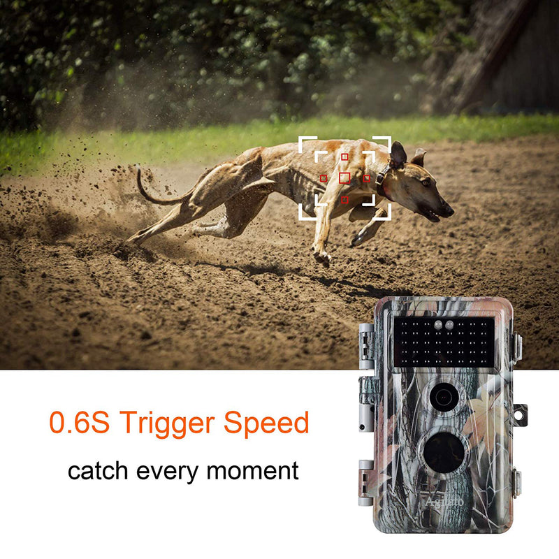 Agitato Trail Camera5-Pack Night Vision Game Trail Deer Cams No Flash 16MP 1080P Waterproof & Password Protected Stand By Time Up to 6 Months, Time Lapse & Time Stamp