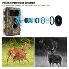 5-Pack 16MP 1080P No Glow Game Trail Deer Cams Night Vision IP66 Waterproof & Password Protected Photo & Video Model Time Lapse & Time Stamp