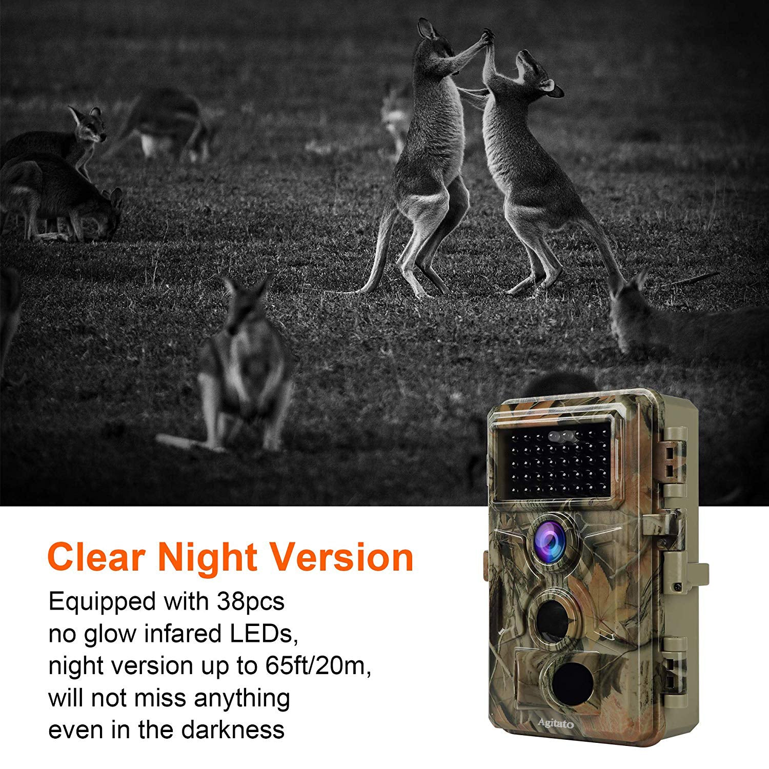 "2-Pack 2-PIR 120° Sensor Deer Trail Game Cameras 16MP 1080P with Night Vision Motion Activated Waterproof IP66 No Glow Infrared 0.2S Trigger 2.4"" LCD"