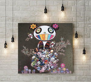 Takashi Murakami - Panda Family Happiness Wall Art - NINJACUDDLE.com