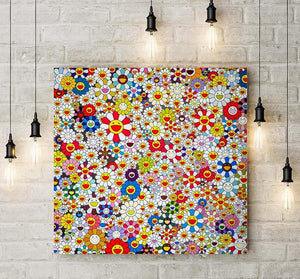 Takashi Murakami Flower Art - The Future Will be Full Of Smile Canvas Wall Art - NINJACUDDLE.com