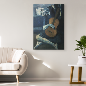 The Old Guitarist - Pablo Picasso - NINJACUDDLE.com