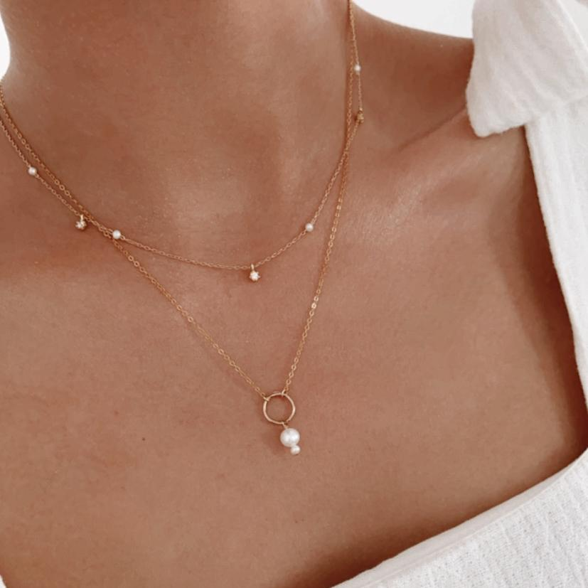 Simple way of layering necklaces