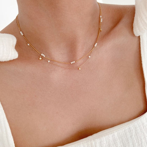 pearl necklace layering for pearl jewellery trends