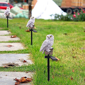 Owl Shape Solar Powered LED Lamp Outdoor
