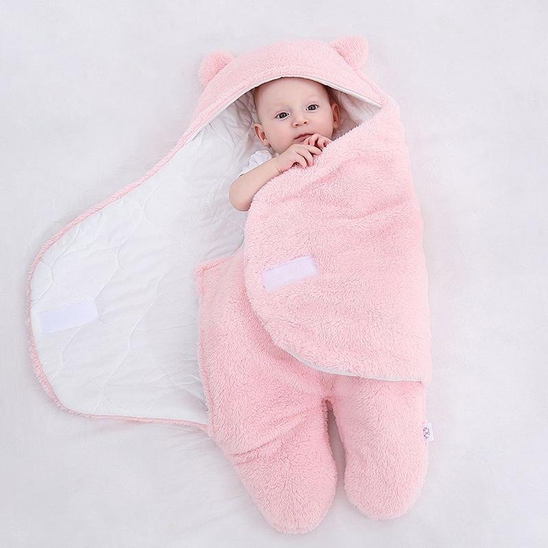 Buy 2 Free Shipping-Newborn Boys Girls Cute Receiving Blanket -Sleep Sack for Baby