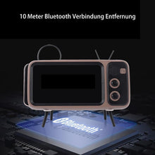 Laden Sie das Bild in den Galerie-Viewer, Retro TV Bluetooth Lautsprecher Handyhalter