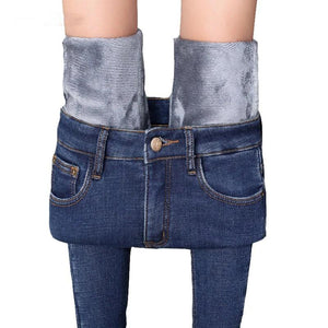 Winter High-rise Warm Jeans