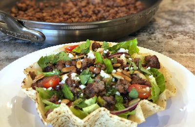 Impossible Beef Taco Salad with Cilantro-Lime Vinaigrette