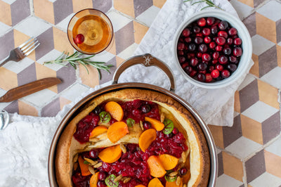 Chef Tirzah Love's Dutch Baby with Cranberry Sauce