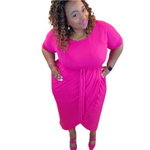 Load image into Gallery viewer, Hot Pink Dress Plus