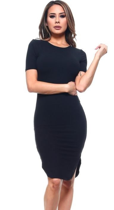 The Black Fall Bodycon Dress