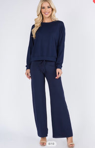 Navy Cute Loungewear Set