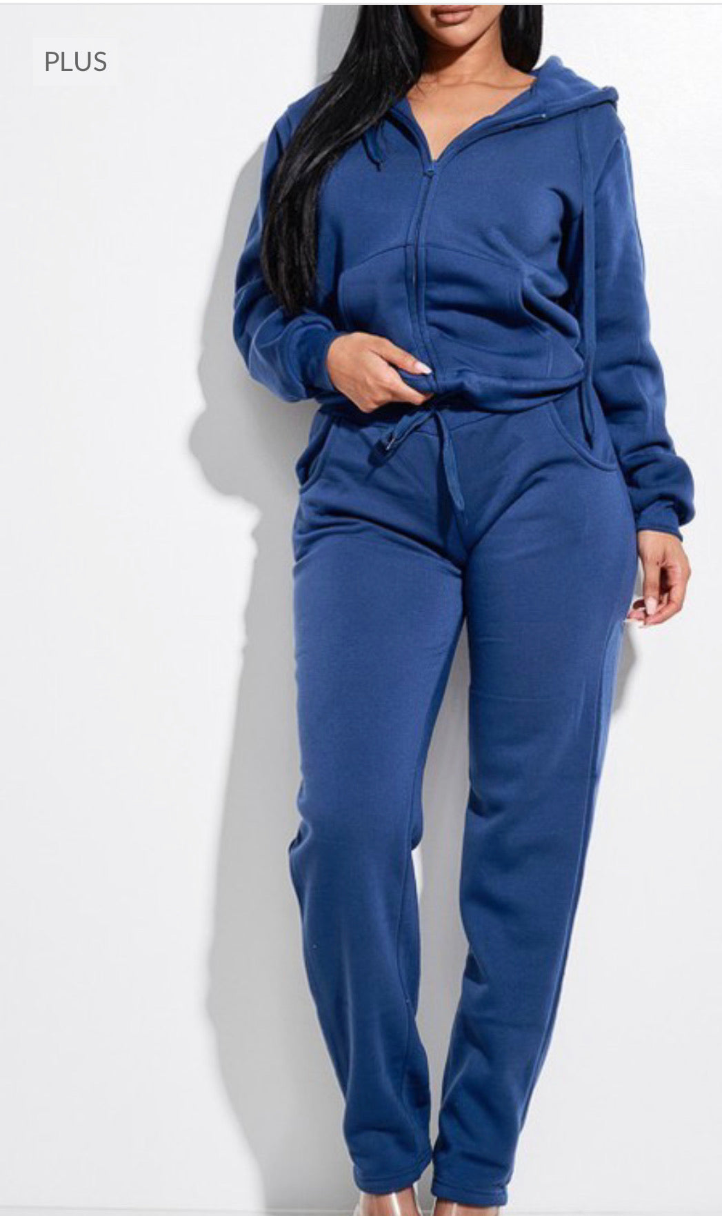 Plus Size Blue Joggers