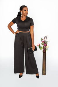 Wide Leg Black Set