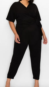 Black on Black Plus Loungewear Set