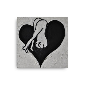 """PHUCKED BY LOVE"" Canvas Print"