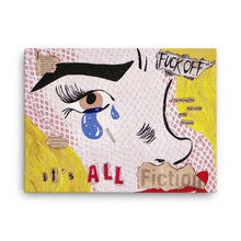 "Load image into Gallery viewer, ""IT'S ALL FICTION"" Canvas Print"