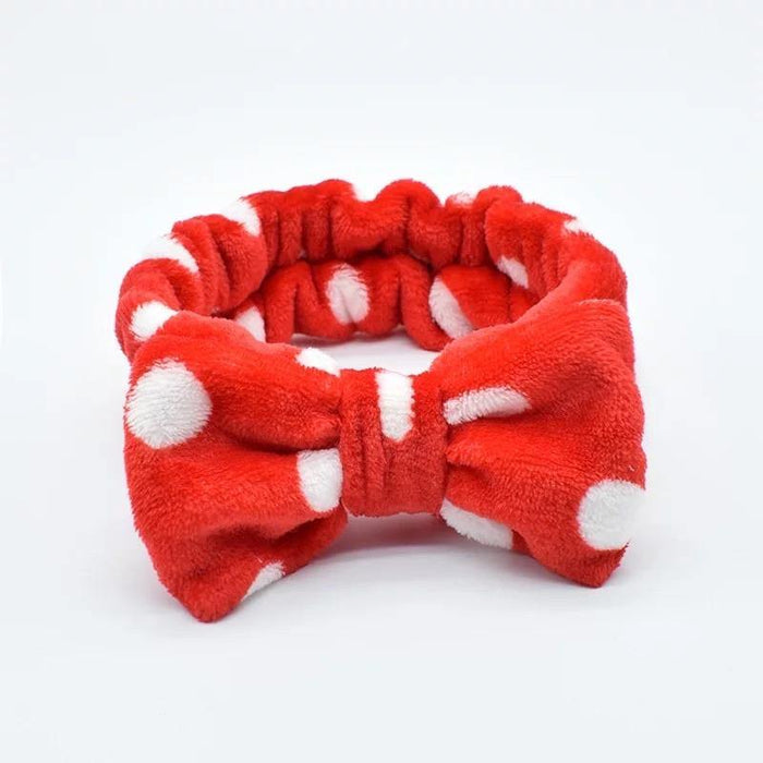 Red Pokka Dots headband - Bodiedbyclaris