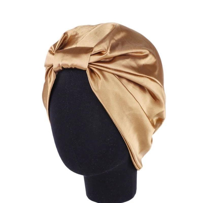 Gold  satin Bonnet - Bodiedbyclaris