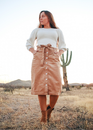 Sandy Corduroy Skirt