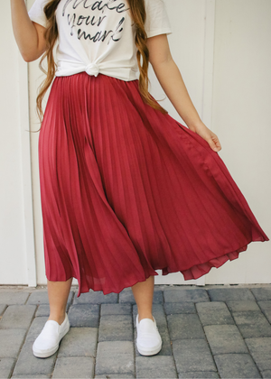 Blushing Pleated Skirt